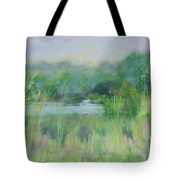 Lake Isaac Impressions Tote Bag by Lee Beuther