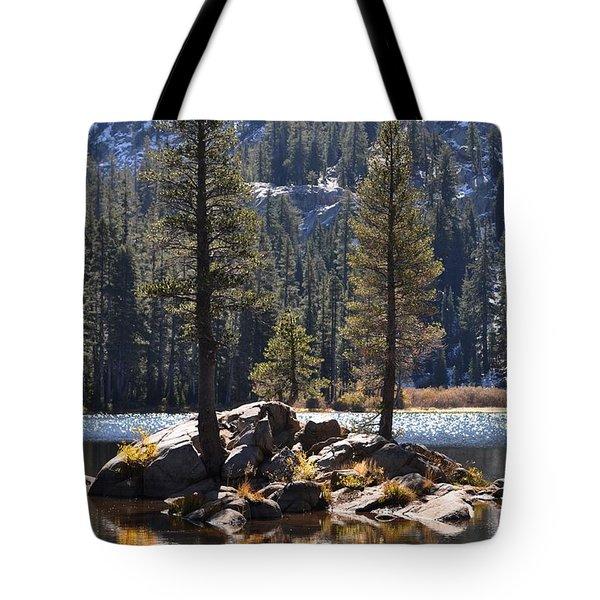 Lake Island Tote Bag