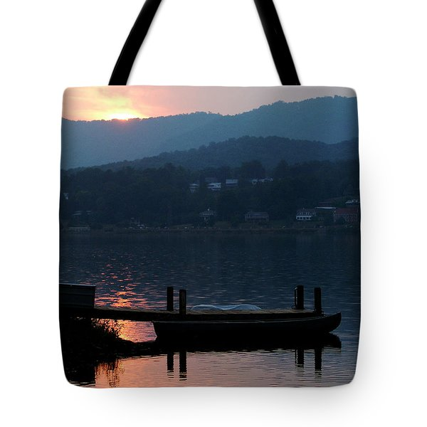 Lake J Sunset Tote Bag