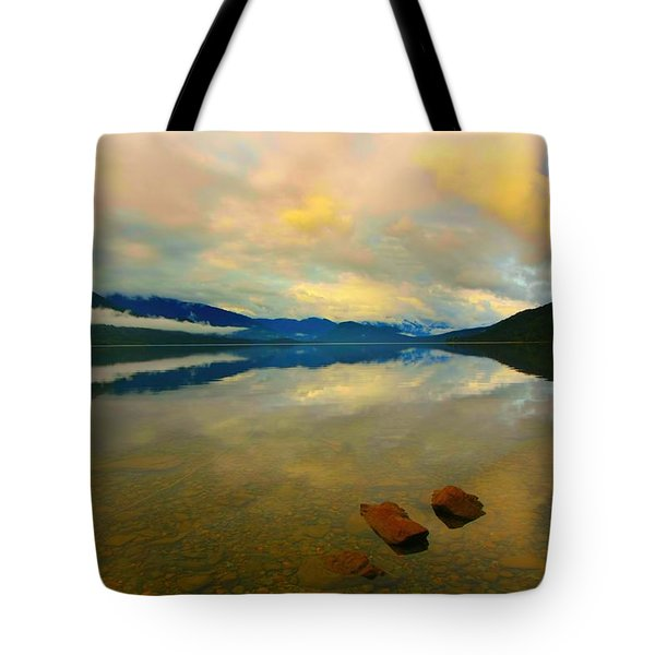 Lake Kaniere New Zealand Tote Bag by Amanda Stadther