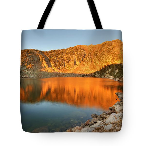 Tote Bag featuring the photograph Lake Katherine Sunrise by Alan Ley