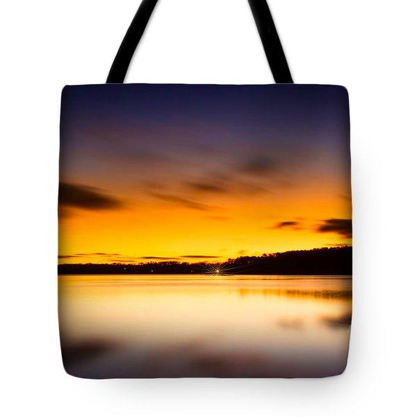 Lake Lanier Sunrise Tote Bag