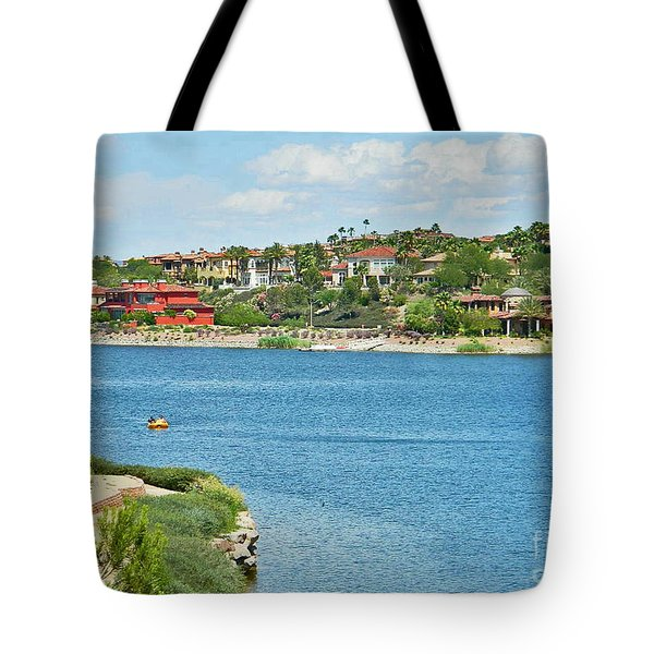 Tote Bag featuring the photograph Lake Las Vegas In May by Emmy Marie Vickers