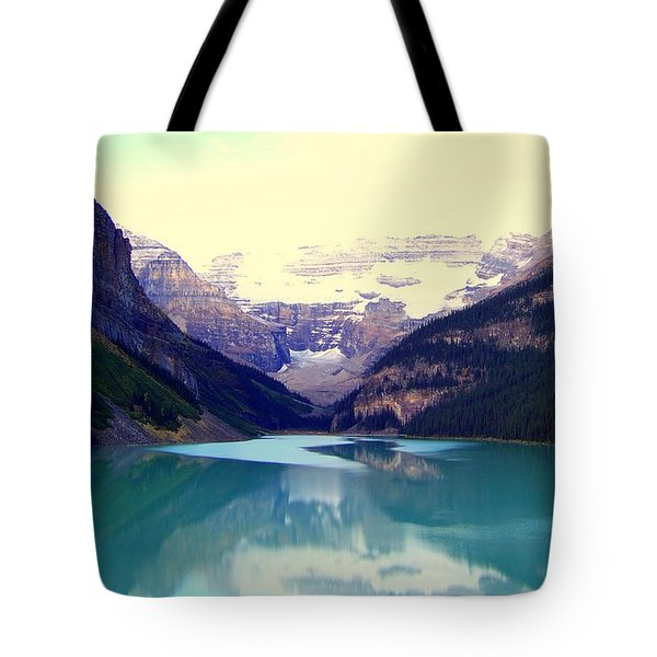 Lake Louise Stillness Tote Bag by Karen Wiles