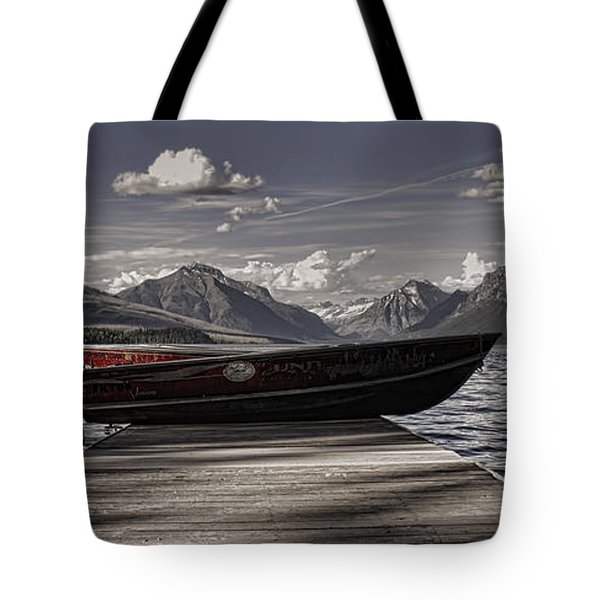 Tote Bag featuring the photograph Lake Mcdonald by Ellen Heaverlo