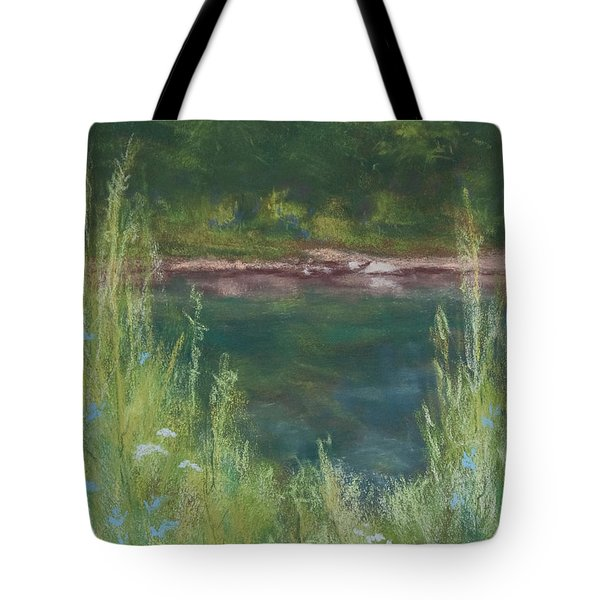Lake Medina Tote Bag by Lee Beuther