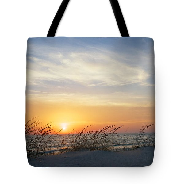 Lake Michigan Sunset With Dune Grass Tote Bag
