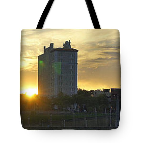 Lake Mirror Pano Tote Bag by Laurie Perry