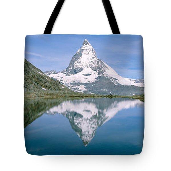 Lake, Mountains, Matterhorn, Zermatt Tote Bag