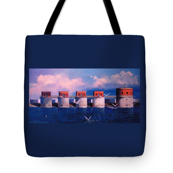 Lake Murray Towers Tote Bag by Blue Sky