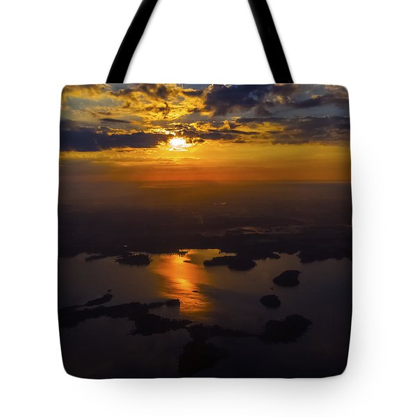 Lake Norman Sunrise Tote Bag