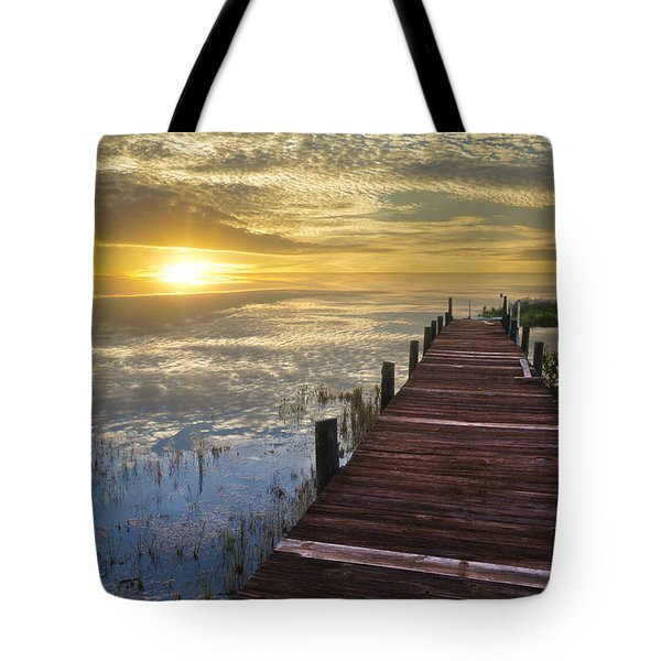 Lake Of Enchantment Tote Bag by Debra and Dave Vanderlaan