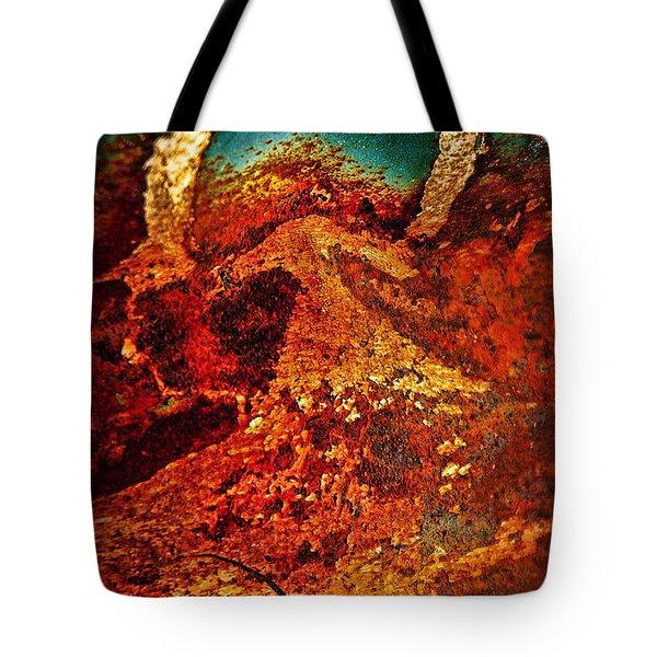 Lake Of Lava Tote Bag by Leanna Lomanski
