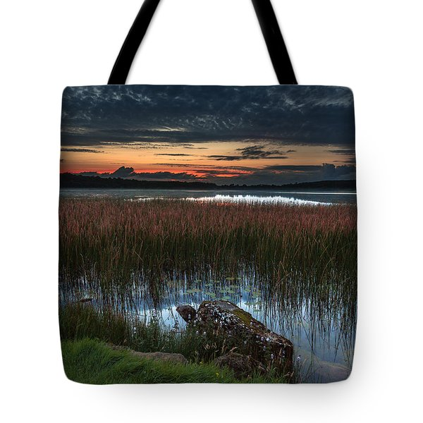 Lake Of The Goddess Tote Bag by Tim Bryan