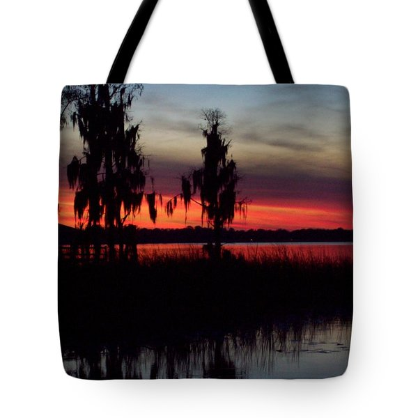 Lake On Fire Tote Bag