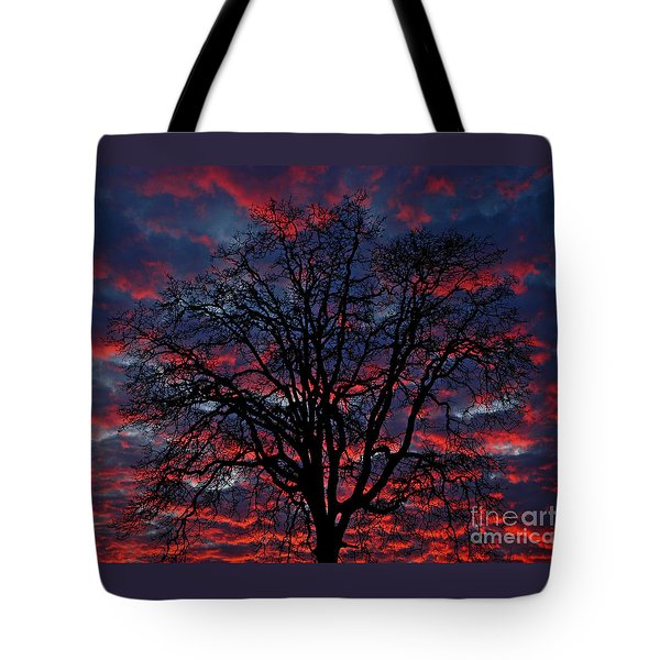 Lake Oswego Sunset Tote Bag