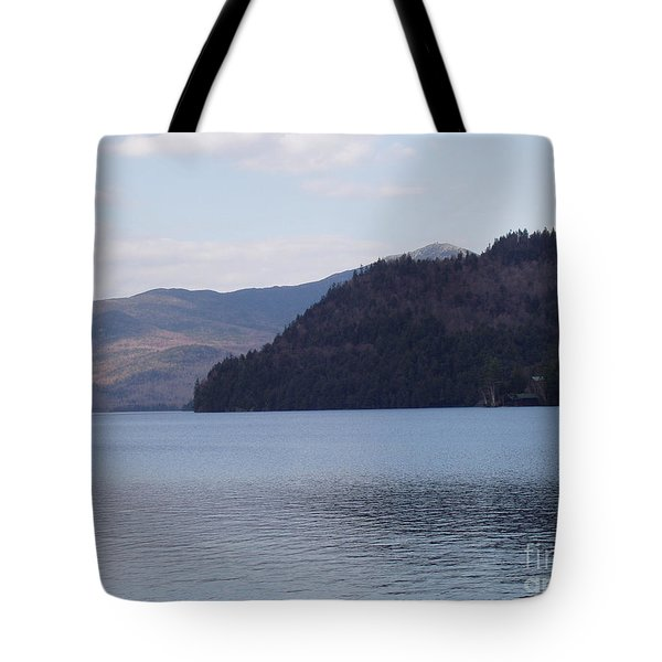 Tote Bag featuring the photograph Lake Placid Mountains by John Telfer