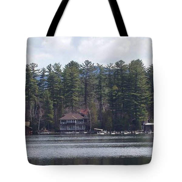 Tote Bag featuring the photograph Lake Placid Summer House by John Telfer
