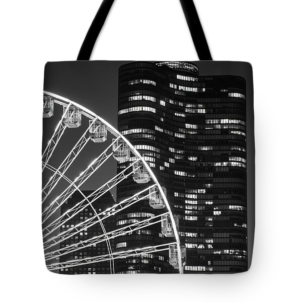 Lake Point Tower Tote Bag by Sebastian Musial