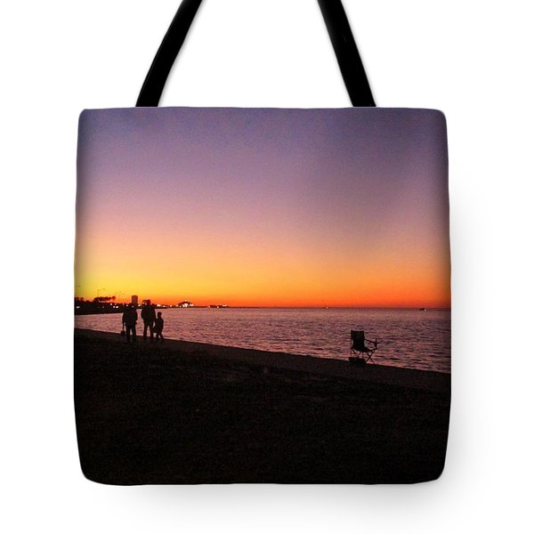 Lake Pontchartrain Sunset Tote Bag by Deborah Lacoste