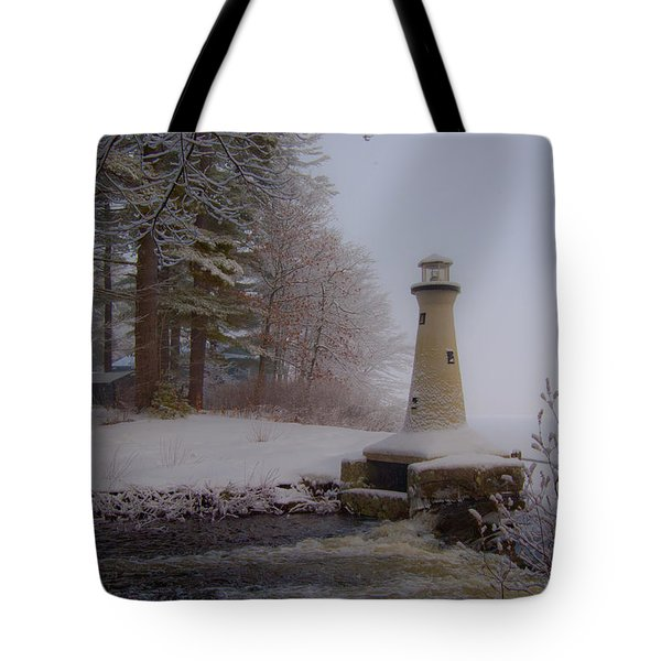 Lake Potanipo Lighthouse Tote Bag