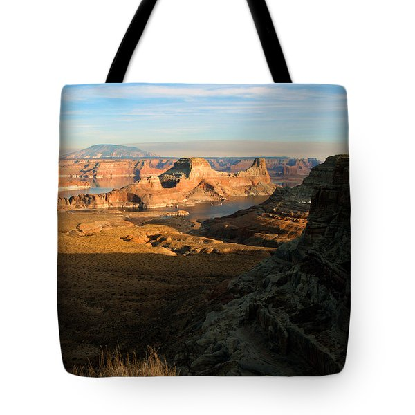 Lake Powell From Alstrum Pt 02 Tote Bag by Jeff Brunton