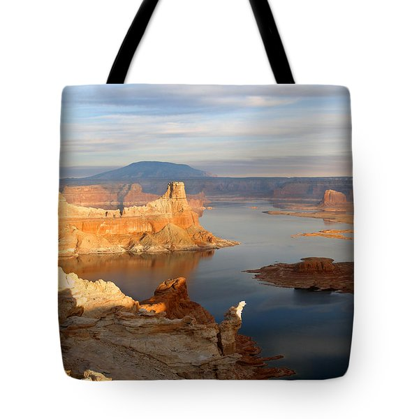 Lake Powell From Alstrum Pt 12 Tote Bag by Jeff Brunton