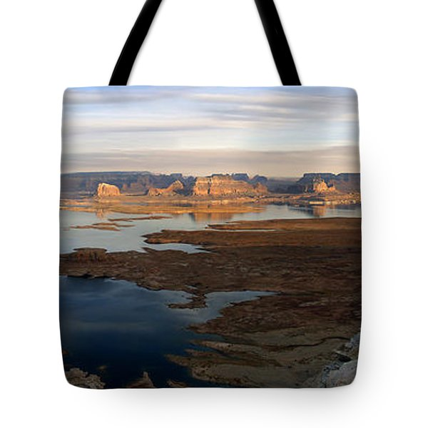Lake Powell From Alstrum Pt Pan 2 Tote Bag by Jeff Brunton