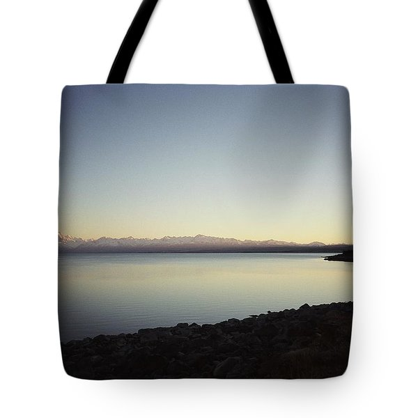 Lake Pukaki First Light Tote Bag