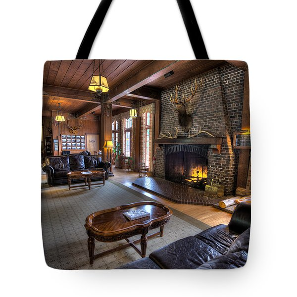 Lake Quinault Lodge Olympic National Park Tote Bag by Steve Gadomski