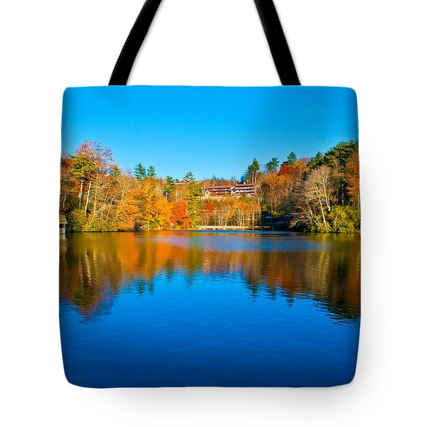 Tote Bag featuring the photograph Lake Reflections by Alex Grichenko