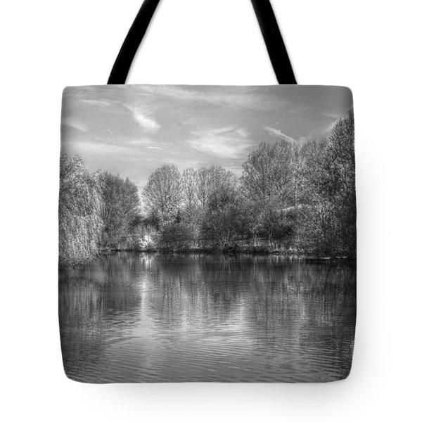 Lake Reflections Mono Tote Bag