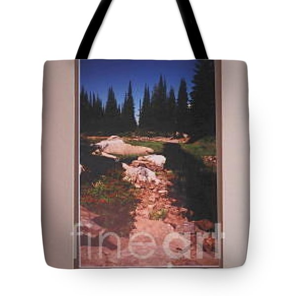 Lake Rivette Runoff Tote Bag by Sharon Elliott