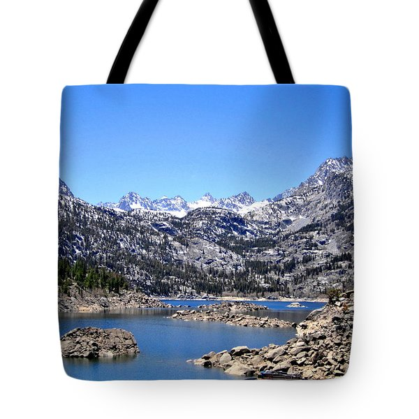 Tote Bag featuring the photograph Lake Sabrina by Marilyn Diaz
