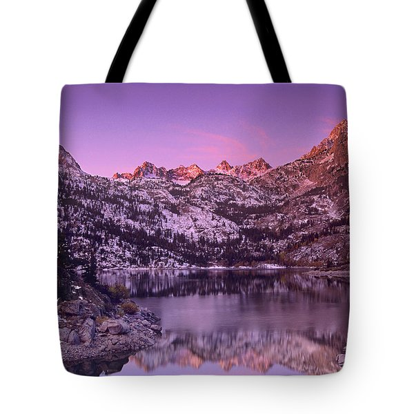 Lake Sabrina Sunrise Eastern Sierras California Tote Bag by Dave Welling