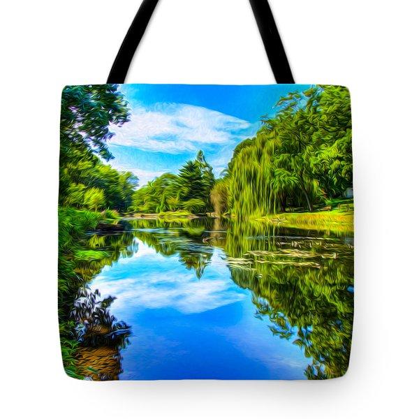 Lake Scene Tote Bag