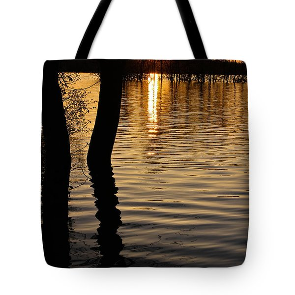 Lake Silhouettes Tote Bag