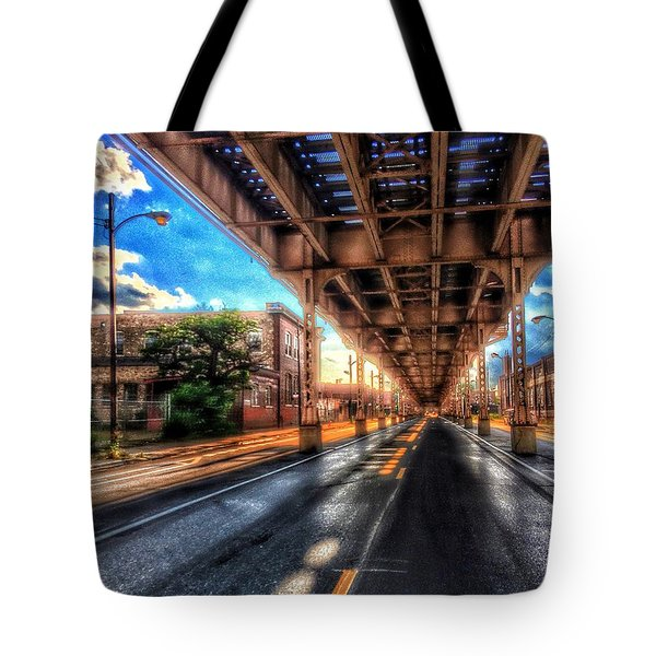 Lake Street El Tracks Tote Bag