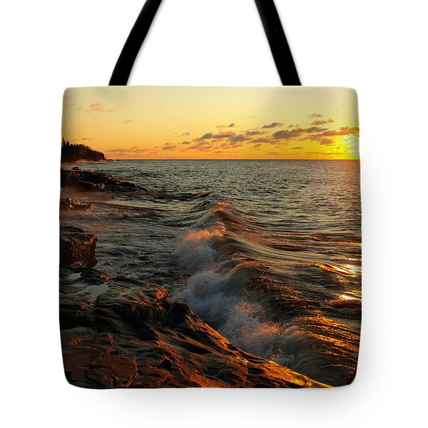 Tote Bag featuring the photograph Lake Superior Dawn by Jim Peterson