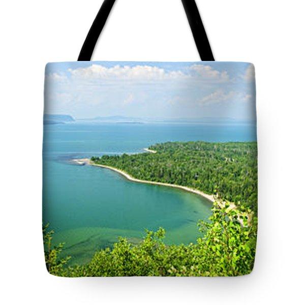 Lake Superior Panorama Tote Bag by Elena Elisseeva