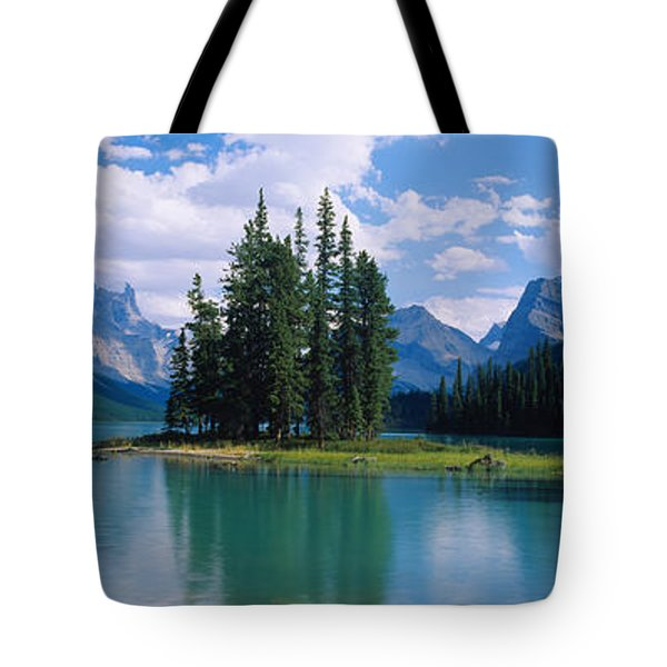 Lake Surrounded By Mountains, Banff Tote Bag