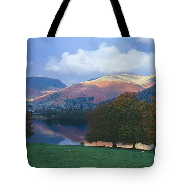 Lake Surrounded By Mountains, Grasmere Tote Bag