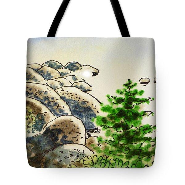 Lake Tahoe - California Sketchbook Project Tote Bag by Irina Sztukowski