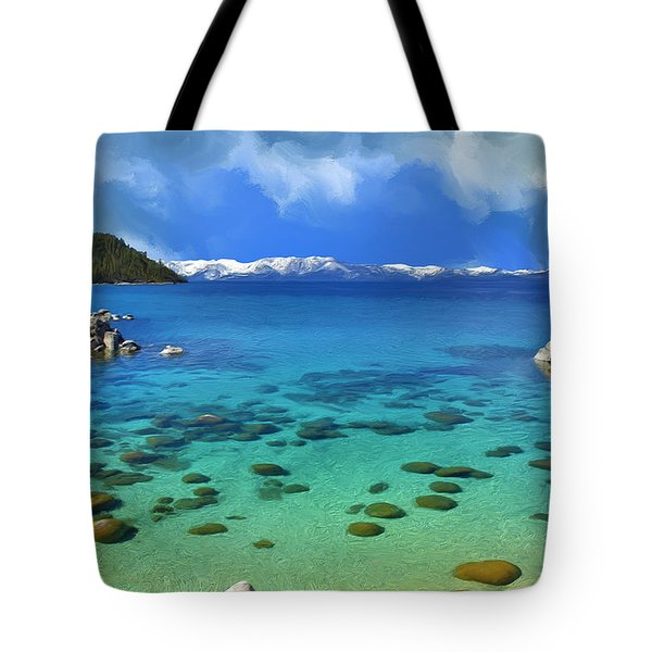 Lake Tahoe Cove Tote Bag