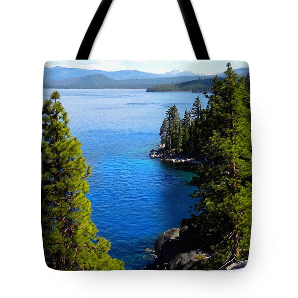 Lake Tahoe From The Rubicon Trail Tote Bag by Frank Wilson