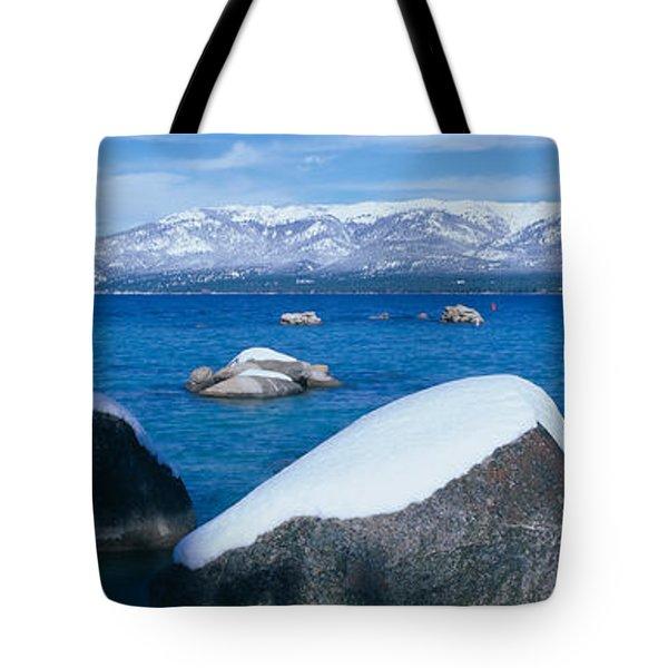 Lake Tahoe In Winter, California Tote Bag