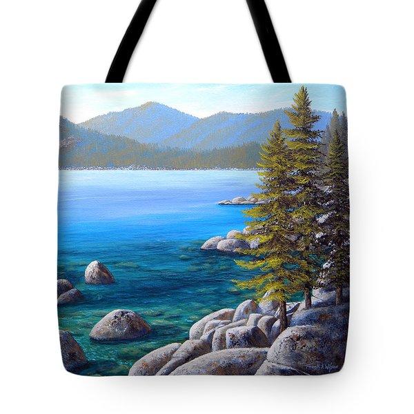 Lake Tahoe Inlet Tote Bag