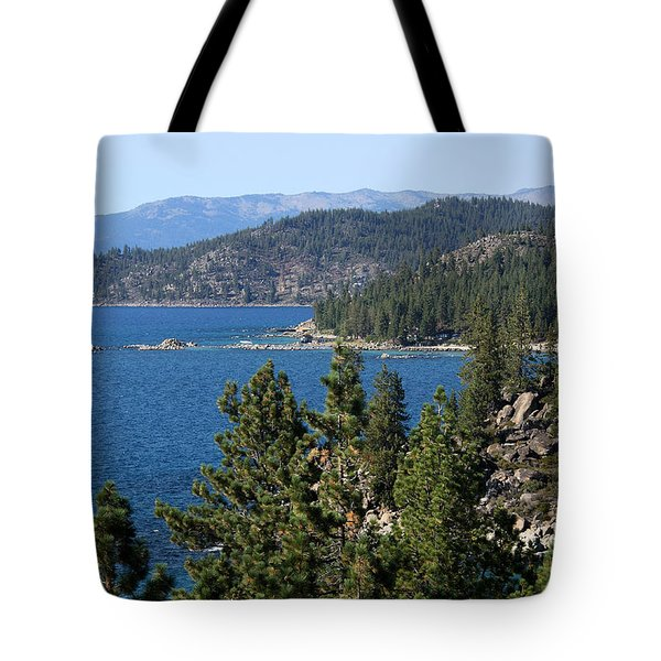 Lake Tahoe Nevada Tote Bag by Aidan Moran