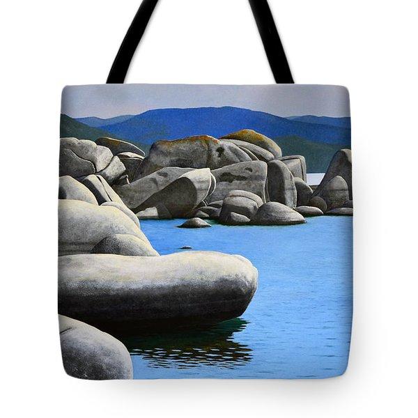 Lake Tahoe Rocky Cove Tote Bag