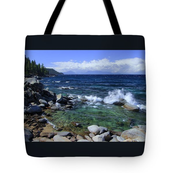 Tote Bag featuring the photograph Lake Tahoe Wild  by Sean Sarsfield